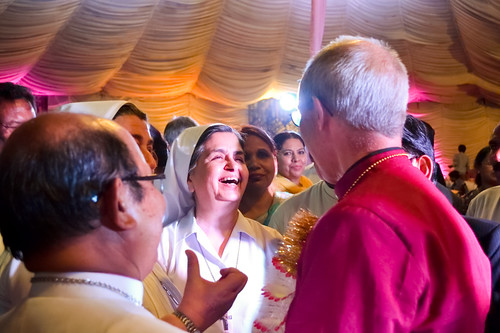 Archbishop Justin has spent much of the visit meeting local Christians