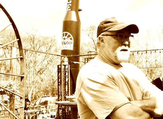 """Mike Whiteside, Co-Owner of Black Dog Salvage, Featured on the Reality TV Show, """"Salvage Dawgs"""", in Roanoke, Va., April 2014"""