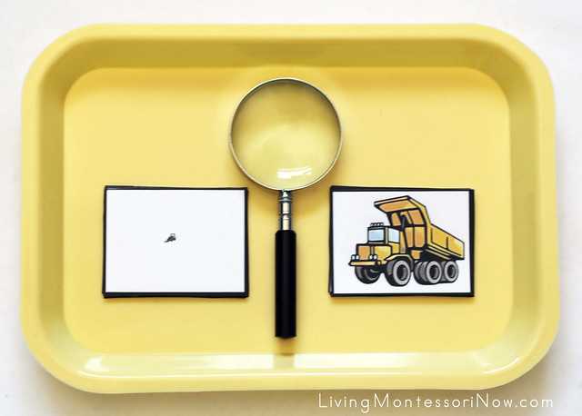 Construction Vehicle Magnifying Matching Activity