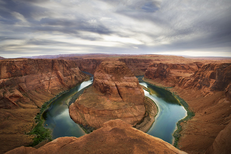 The famous Horse Shoe Bend
