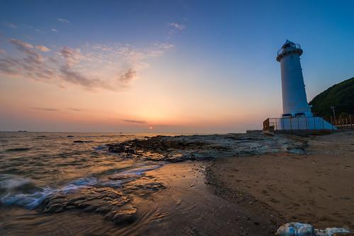 sunset sky cloud lighthouse seascape beach japan landscape twilight day sony horizon sigma gradation 1224mm 南知多 minamichita slta99v pwpartlycloudy 野間崎灯台 nomatoudai