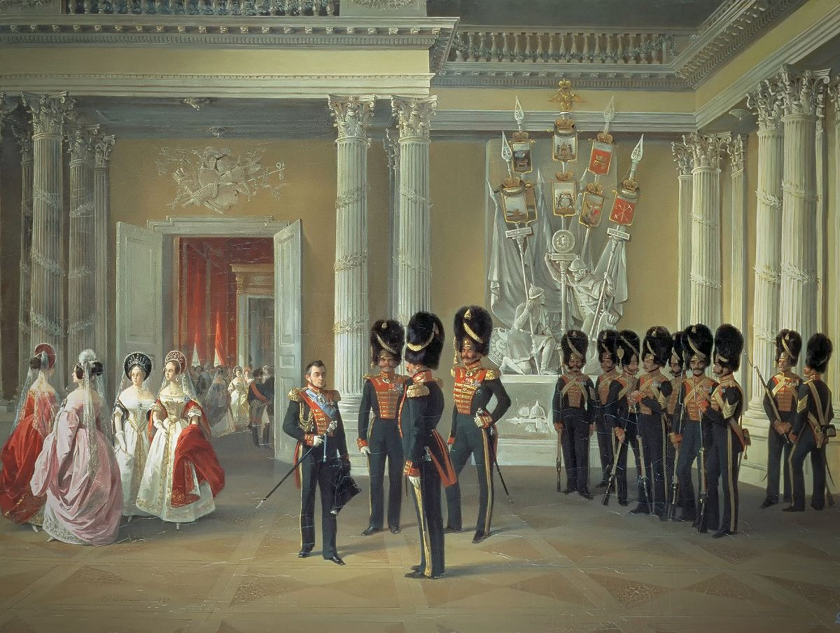 Armorial Hall of the Winter Palace by A.Ladurner, 1834