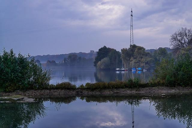 Foggy blue hour in autumn...