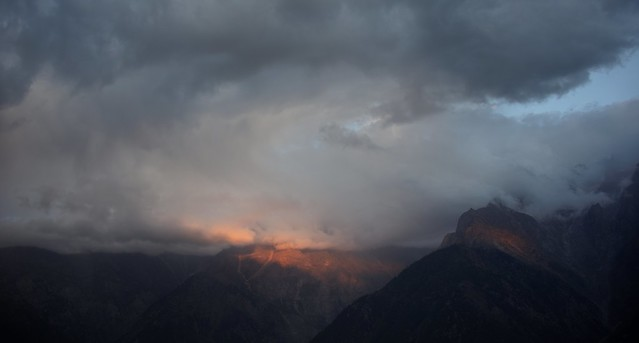 Dark clouds over the Kinner-Kailash range, India 2016