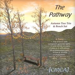 "@ CMP ~ [CIRCA] - ""The Pathway"" - Autumn Tree Trio & Bench Set"