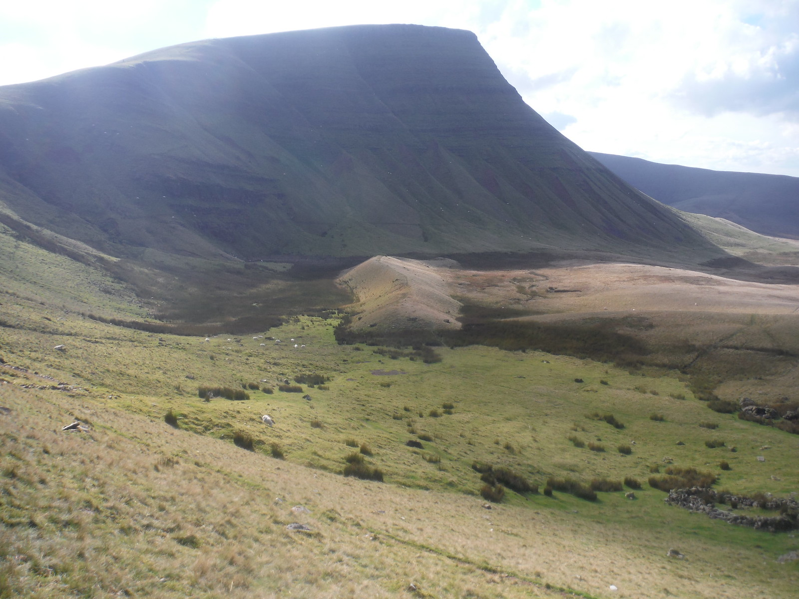 Picws Du and Glacial Moraine at the bottom of it SWC Walk 279 The Black Mountain - Y Mynydd Du (Glyntawe Circular)