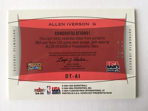 finest selection 4c5ed 51ea0 Allen Iverson FS - Blowout Cards Forums