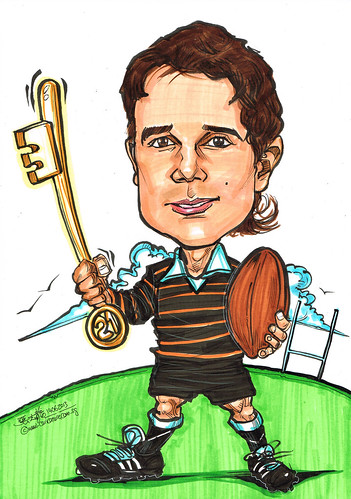 rugby player caricature 21st birthday