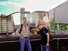 Outside the Moscone Center for WWDC