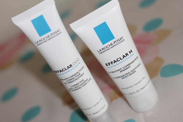 A review of La Roche-Posay skincare including Effaclar Duo, Effaclar H and Hydreane moisturisers
