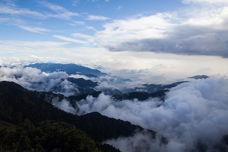 合歡山上雲海