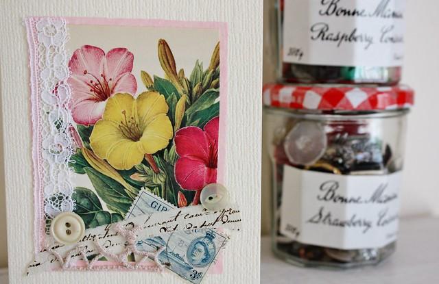 vintage florals & buttons