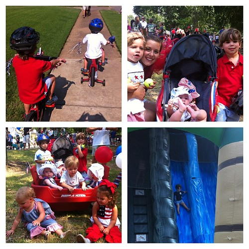 Bike parade - check. fun with friends - check. huge water slide - check. tantrums, tears, fits - check. It's about the memories right? Happy 4th!