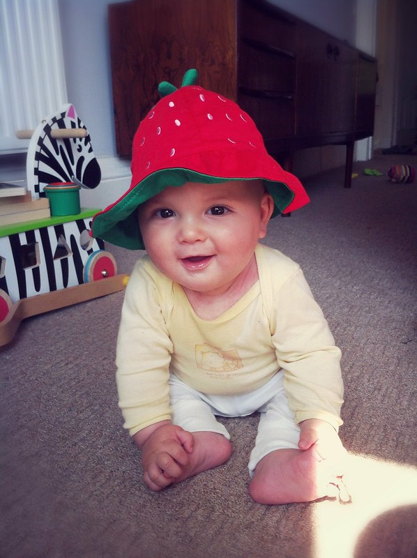 Strawberry sun hat