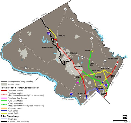 BRT corridors proposed July 2013