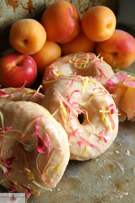 Apricot Rose Donuts
