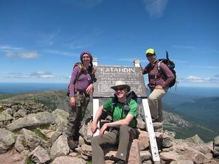 baxter peak summit sign