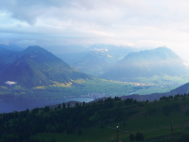 View from Summit of Rigi, Switzerland