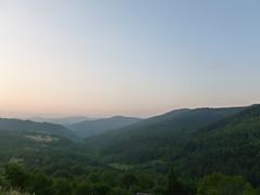 Monts d'Ardèche au lever du soleil