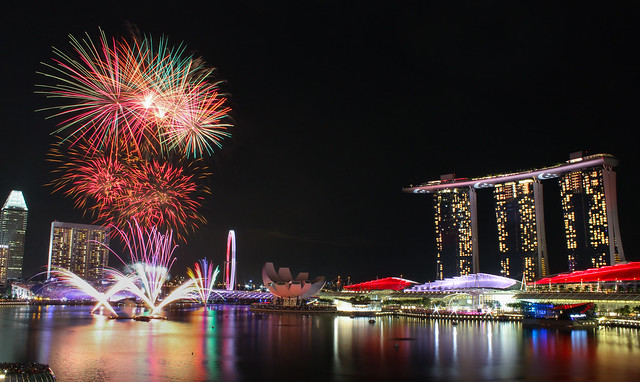 National Day Parade Fireworks.