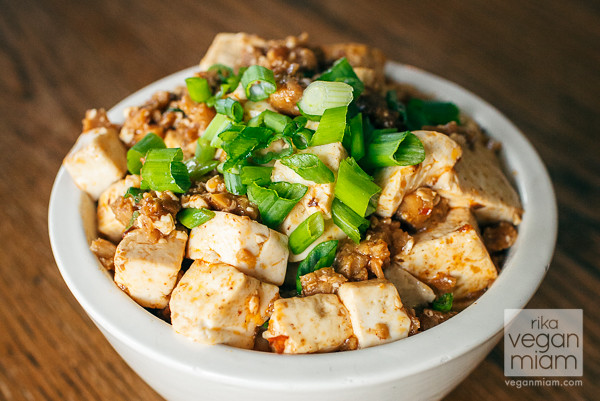 Vegan Spicy Mapo Tofu