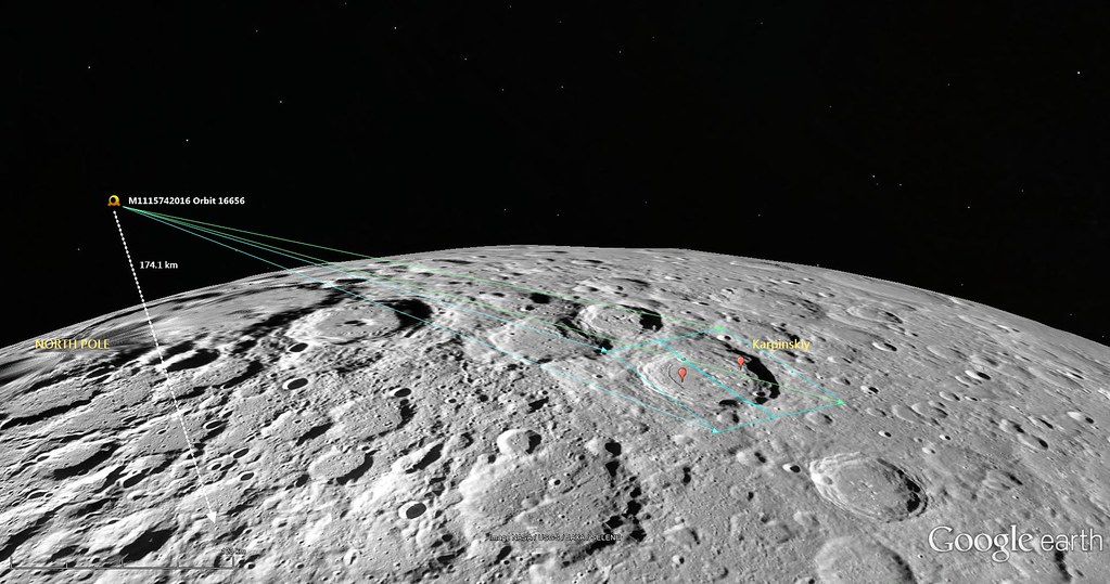 Google Moon -Orbital Dynamics of LROC NAC M1115742016LR