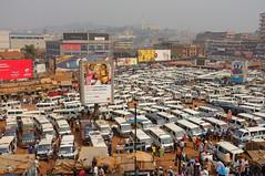 Centraal minibus station, Kampala