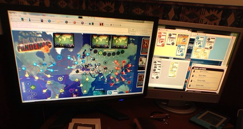 Cool! Playing pandemic online.
