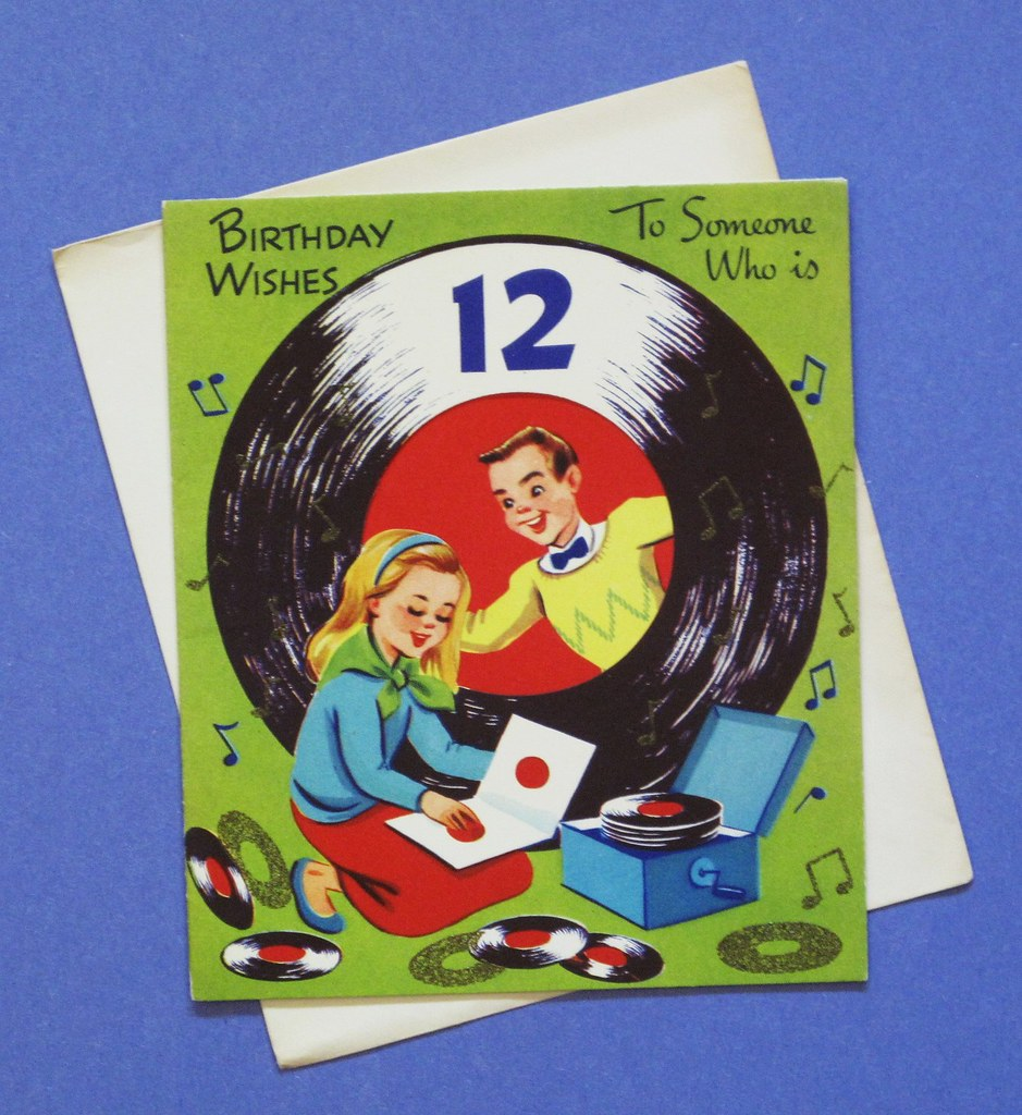 Vintage Birthday Card For 12 Year Old