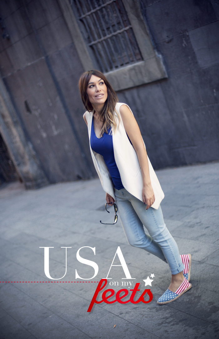 street style usa on my feets espadrilles barbara crespo outfit madrid