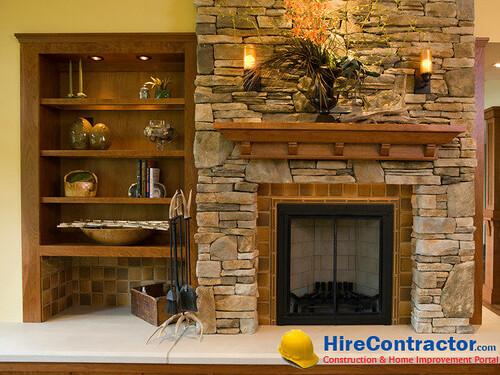Custom designed fireplace
