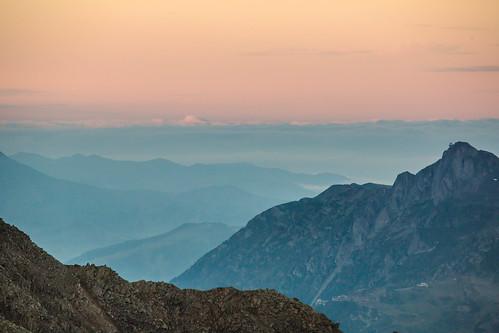 sunset mountain france mountains alps alpes landscape europe tour view background hill layers chamonix hautesavoie