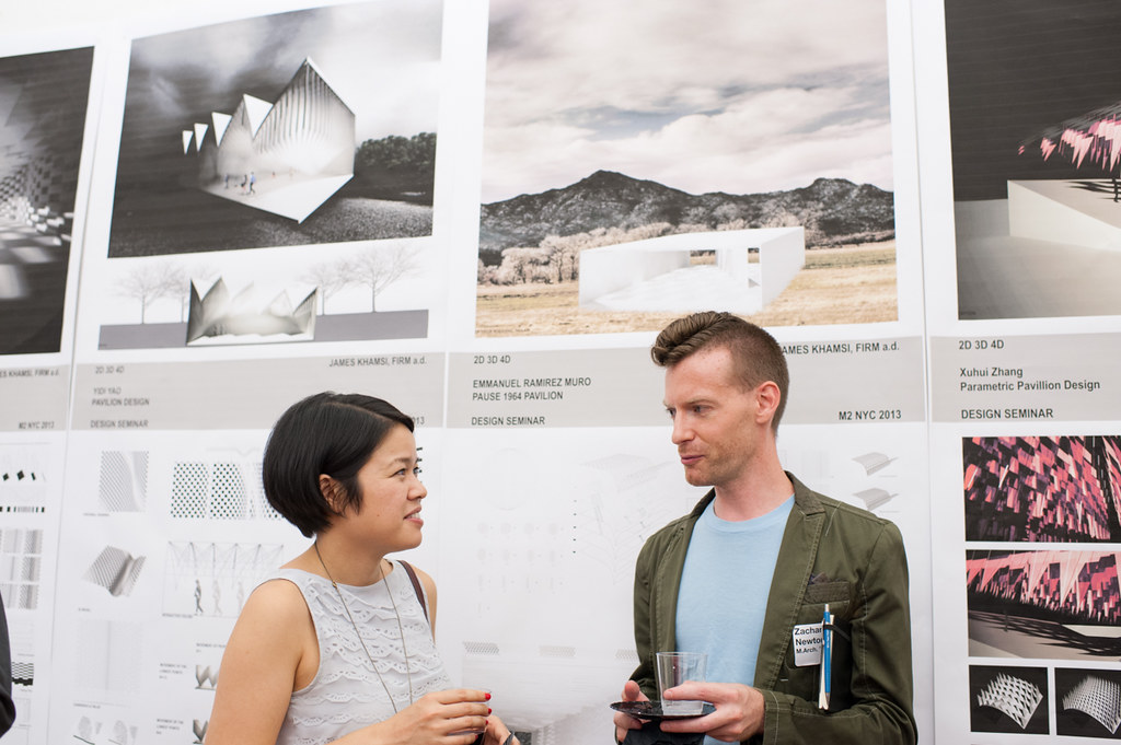 Work from M.Arch.II students on display.