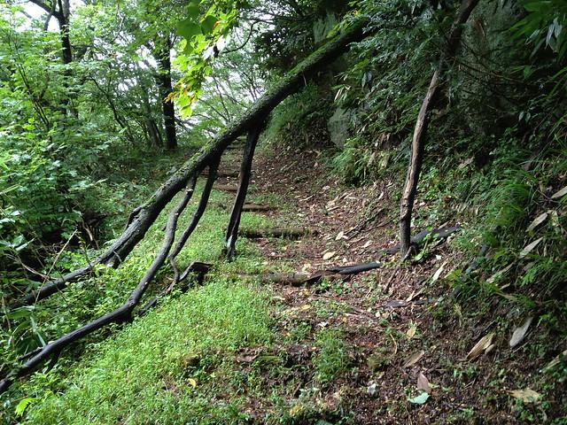 鍋倉山-丸太階段