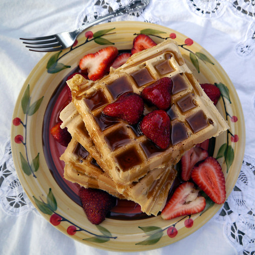 O is for Old-Fashioned Chelsea Waffles [Vegan Brunch] (0004)