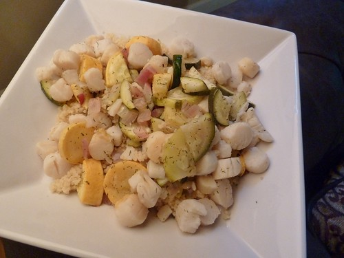 Wine-Marinated Sea Scallops & Veggies