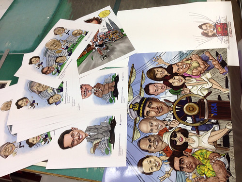 Digital caricature printouts
