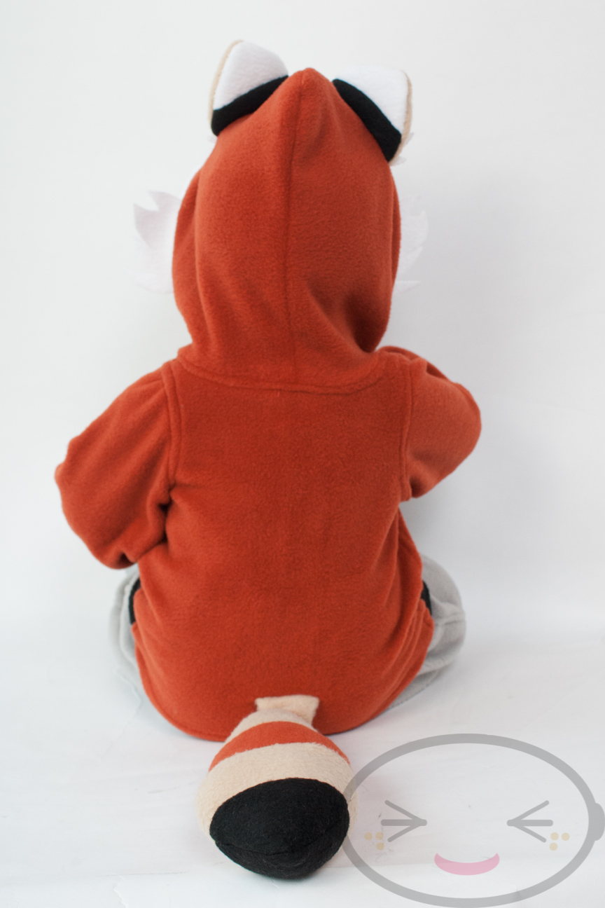 baby red panda hoodie vest size 3m 18m kigurumi cosplay costume halloween ebay. Black Bedroom Furniture Sets. Home Design Ideas