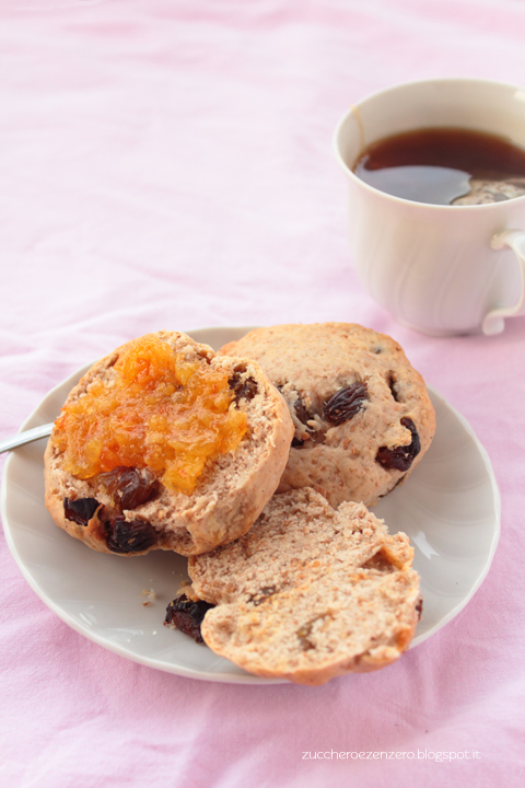 Raisin and cinnamon scones