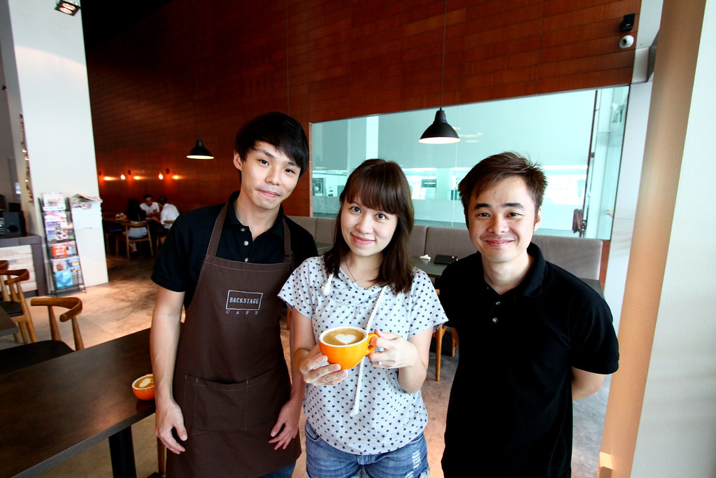 Maureen and Backstage Cafe Staffs