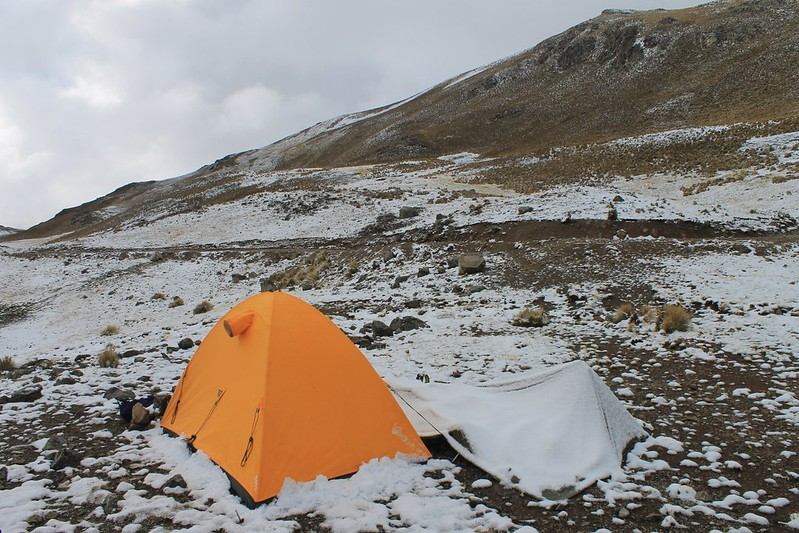Camp at 4700m near Punta Fierro Cruz