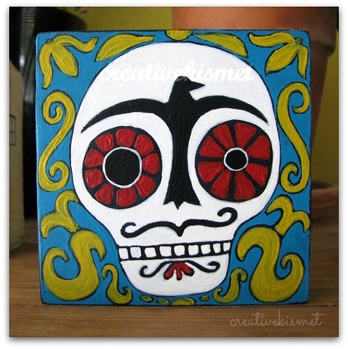 Day of the Dead Skull by Regina Lord