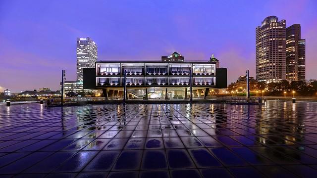 War Memorial Center in the Purple Rain