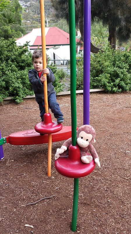 Eskil and Monkey at the Playground