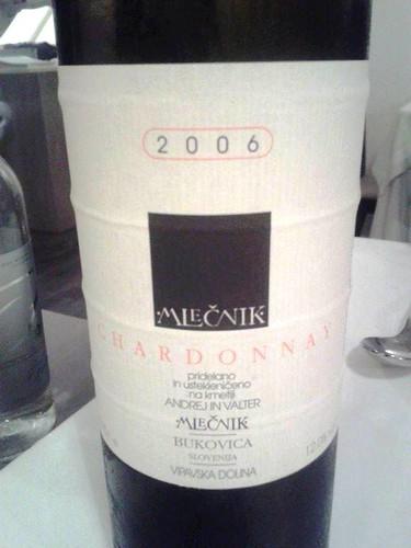 Chardonnay Mlecnik, Slovenia