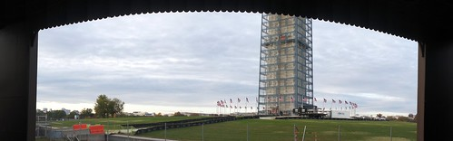 Washington Monument in Scaffolding (Sylvan Theatre Stage view)