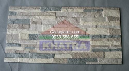 Gạch ngoại thất vân đá xám