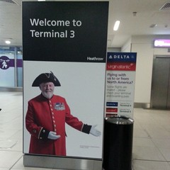 Yes, I still can't get over the redcoat. #lhr #Heathrow #London