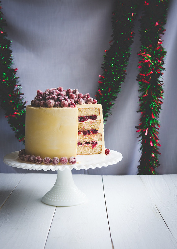 11217215105 ebeea4f1c8 c Christmas White Chocolate Cranberry Layer Cake