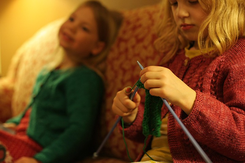 evening knitting
